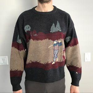 Vintage Arnold Palmer Wool Blend Golf Sweater